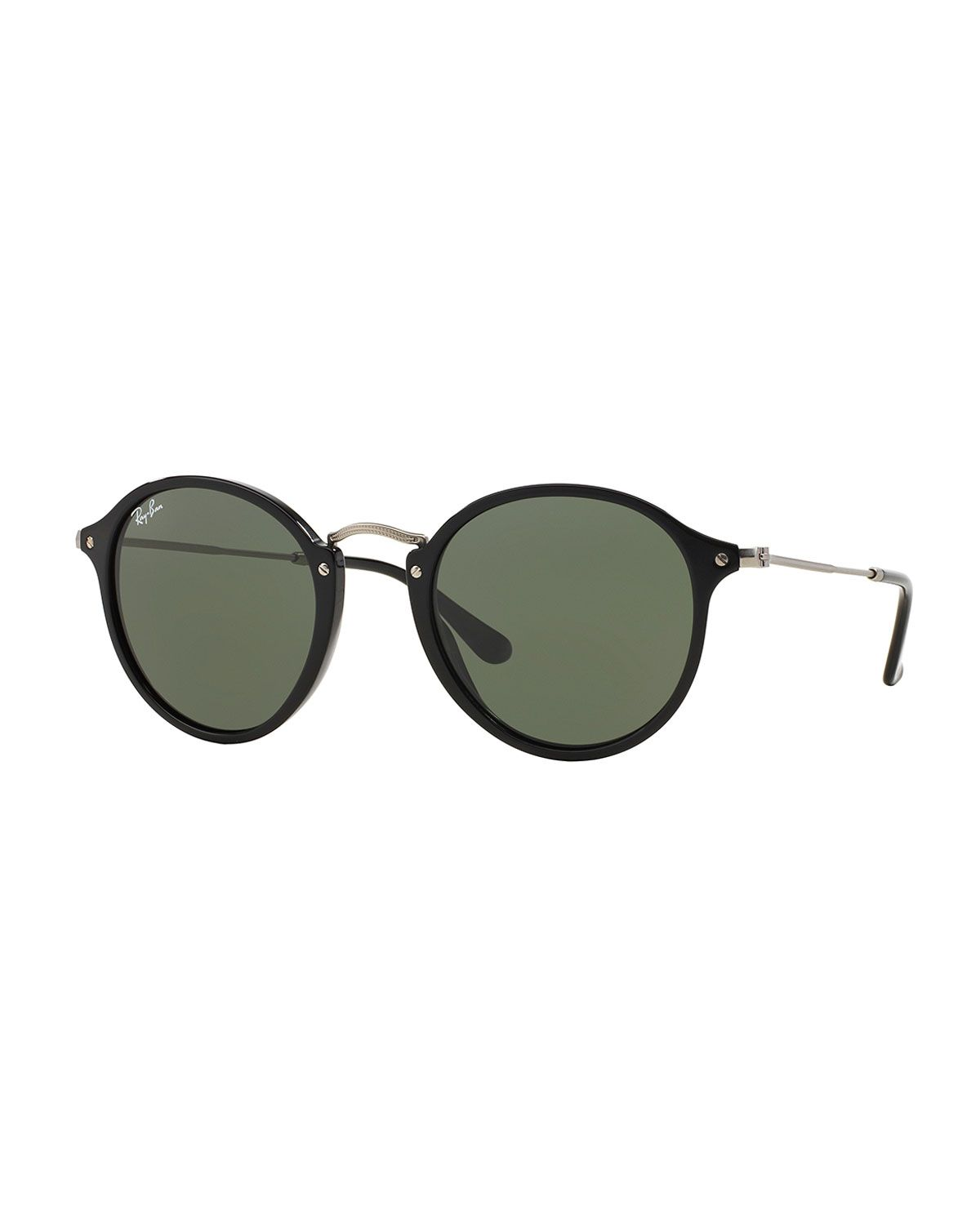 3c07d57ed Ray-Ban round sunglasses. Keyhole nosebridge. Acetate frames. Gray lenses.  100% UV protection. Made in Italy.
