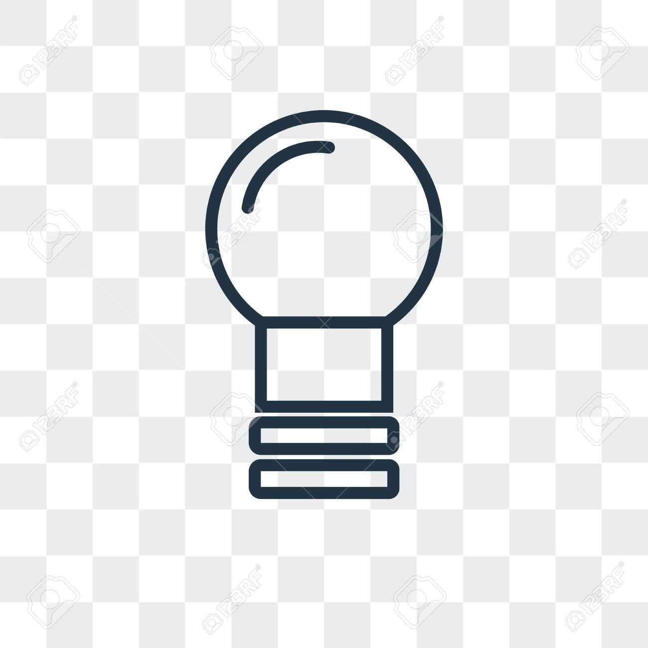 Idea vector icon isolated on transparent background, Idea