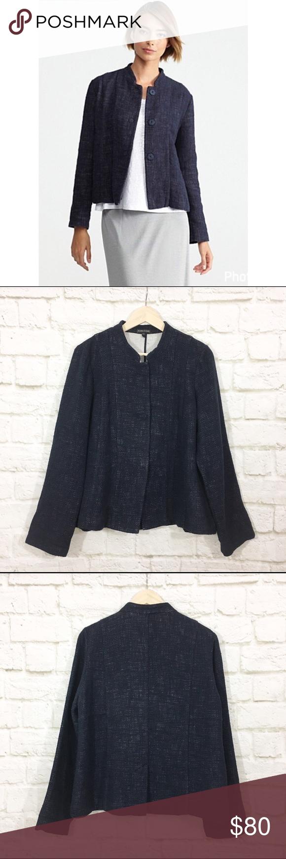 Eileen Fisher Cotton Linen Mandarin Collar Jacket Clothes Design Jackets Mandarin Collar Jacket [ 1740 x 580 Pixel ]