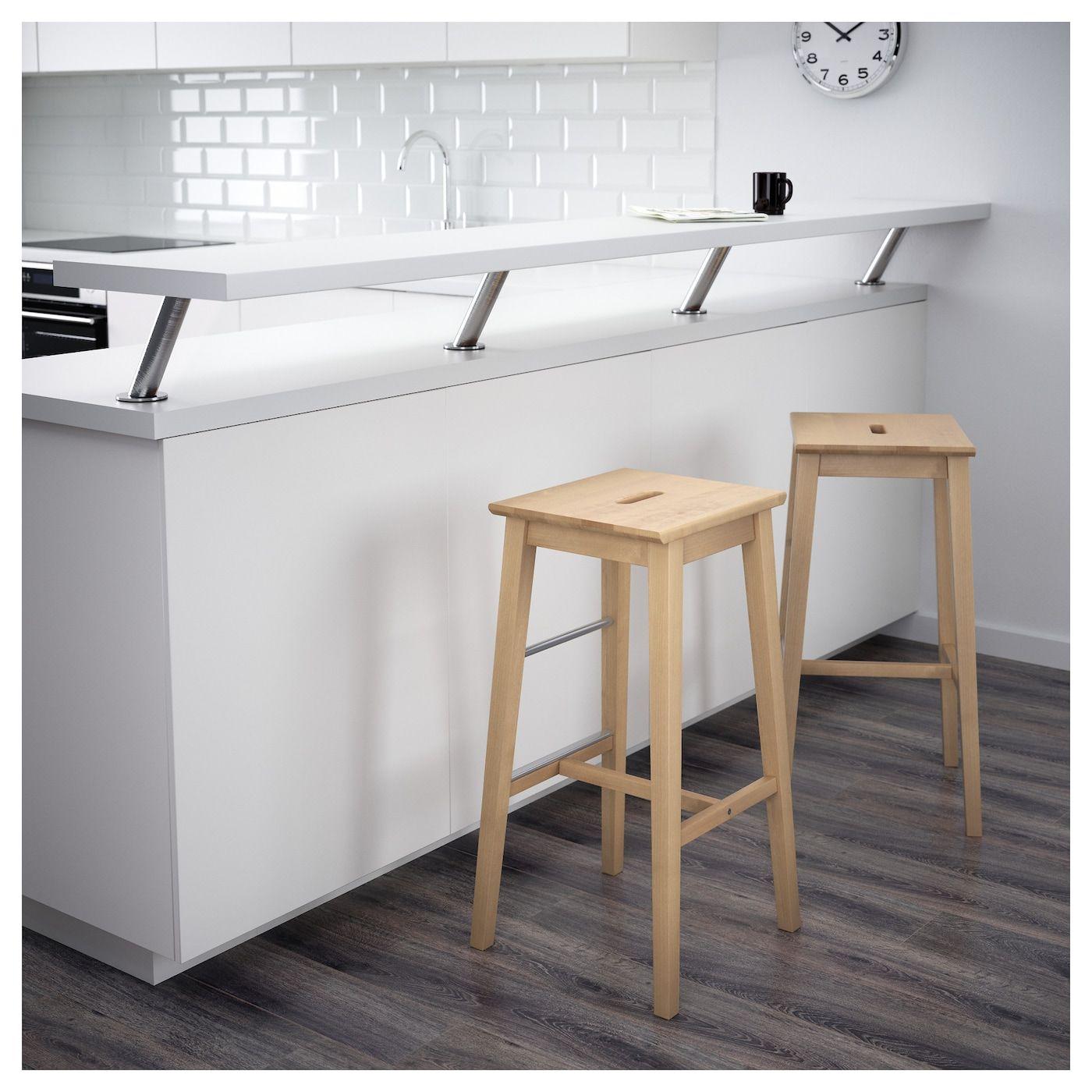 Nilsolle Tabouret De Bar Bouleau Ikea Tabouret De Bar Tabourets De Cuisine Du Bar Mobilier De Salon