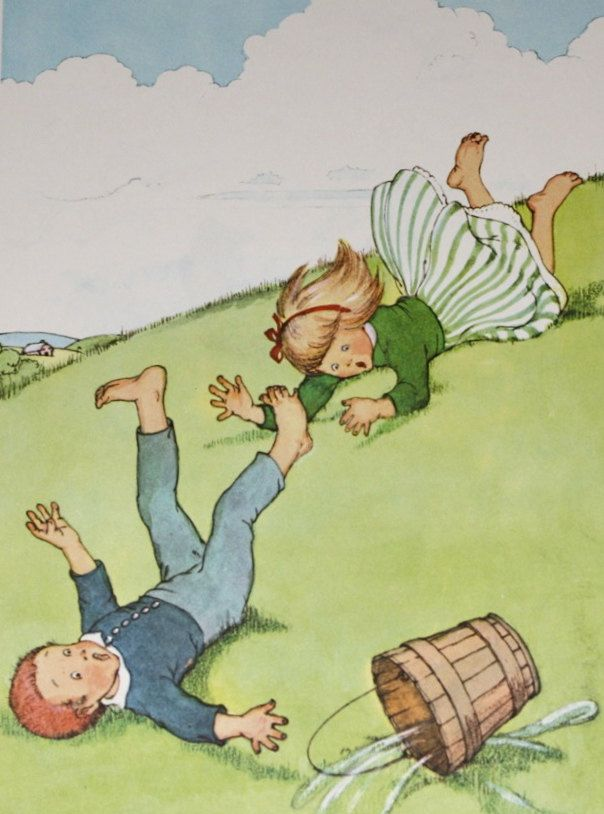 Jack and Jill Went Up the Hill, 1956 Childrens Nursery Rhyme ...