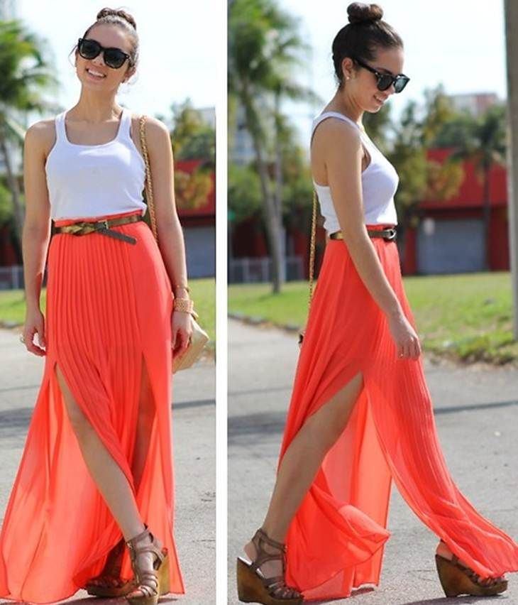 Cute Maxi Skirts Photo Album - Gift and fashion