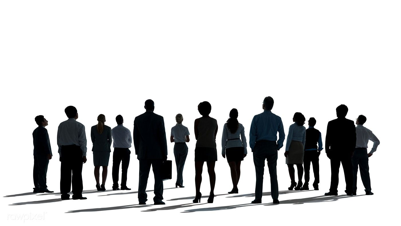 Download Premium Psd Of Business People Looking Up Silhouette On