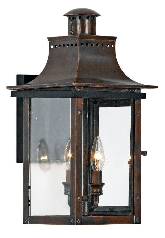 Quoizel Chalmers Wall Lantern Copper Outdoor Lighting Quoizel Outdoor Light Fixtures