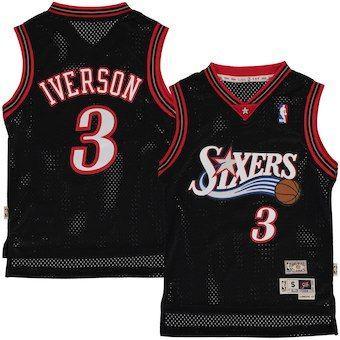 0eac3b3e626 Allen Iverson Philadelphia 76ers Youth Fashion Hardwood Classics Swingman  Jersey - Black