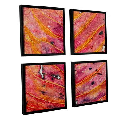 "Brayden Studio Axioma VII 4 Piece Framed Painting Print on Canvas Set Size: 36"" H x 36"" W x 2"" D"