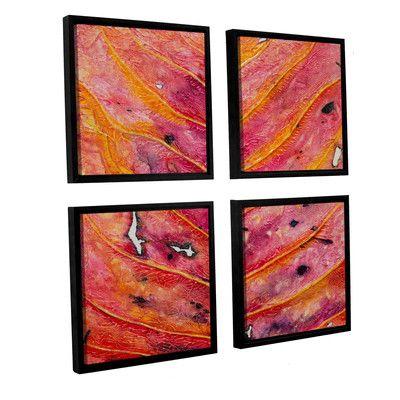 "Brayden Studio Axioma VII 4 Piece Framed Painting Print on Canvas Set Size: 36"" H x 36"" W x 2"" D"