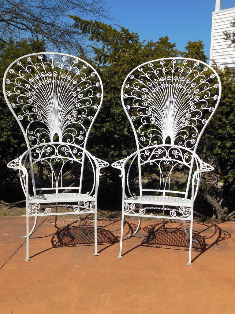Vintage salterini peacock chairs from a unique for Outdoor furniture vintage