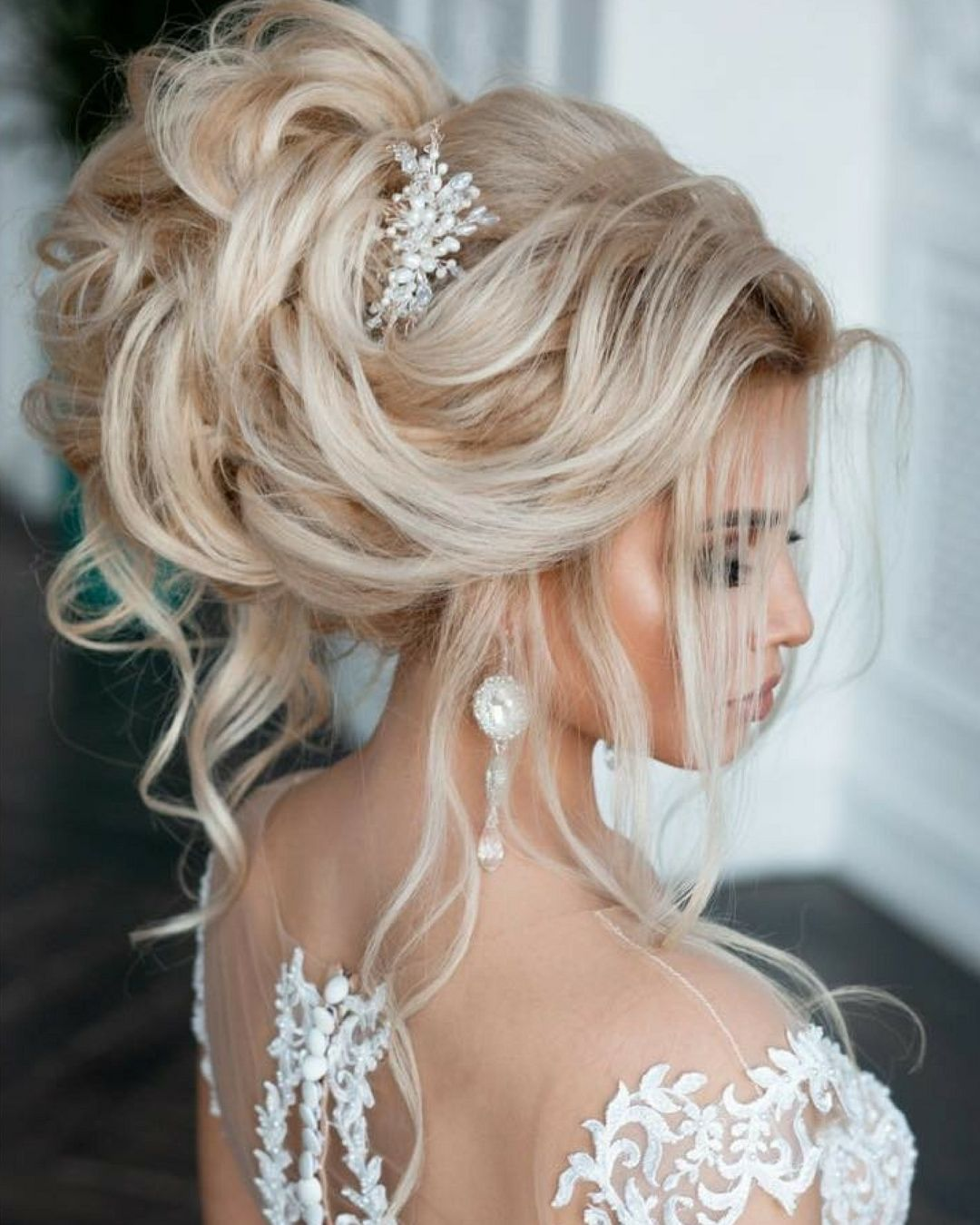 Beautifully Volume Updo And Elegant Hair Accessory And What Was Your Hairstyle Like On The Big Day H Blonde Bridal Hair Hair Styles Elegant Hairstyles