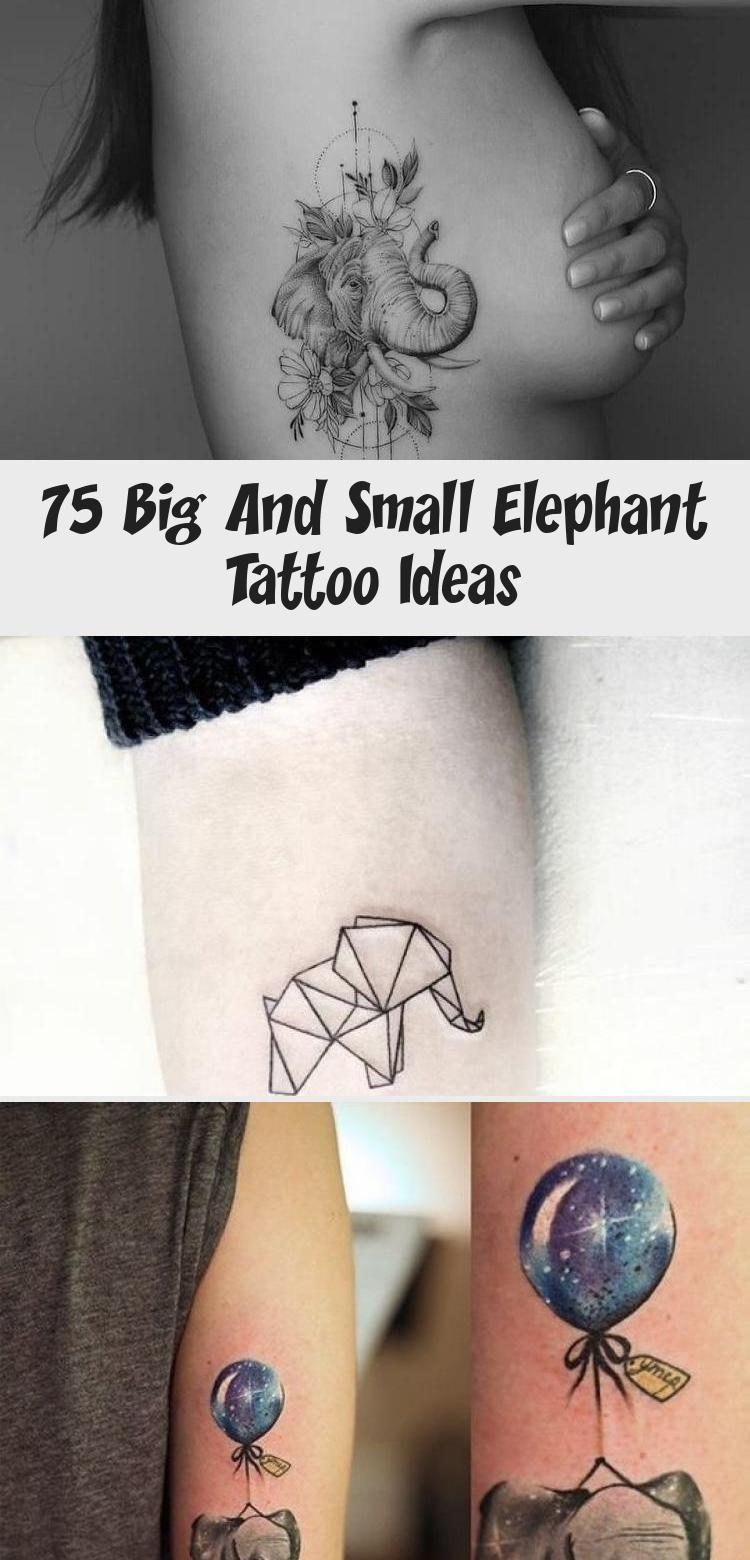 Photo of 75 grandes et petites idées de tatouage d'éléphant – Artisanat plus lumineux #sunflowertattoosLeg # …