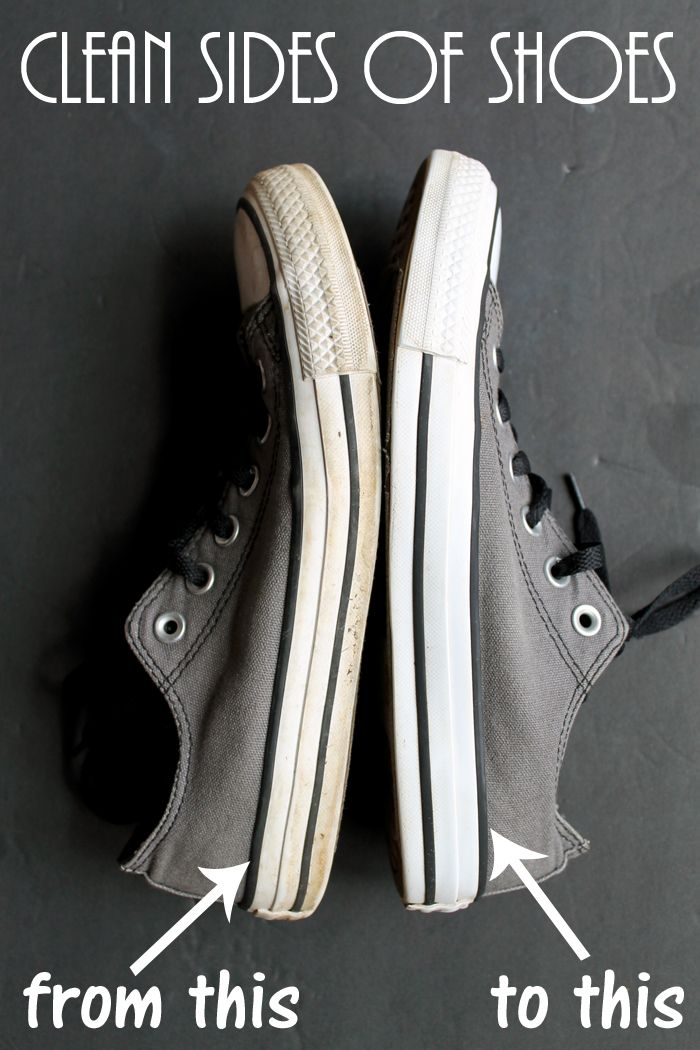 3a92306b9ccf Learn how to clean the sides of shoes with one simple household ingredient!  Why didn t I know this already