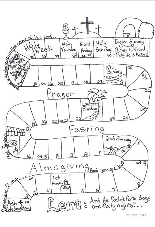 lent calendar I did this with my catechism class. The