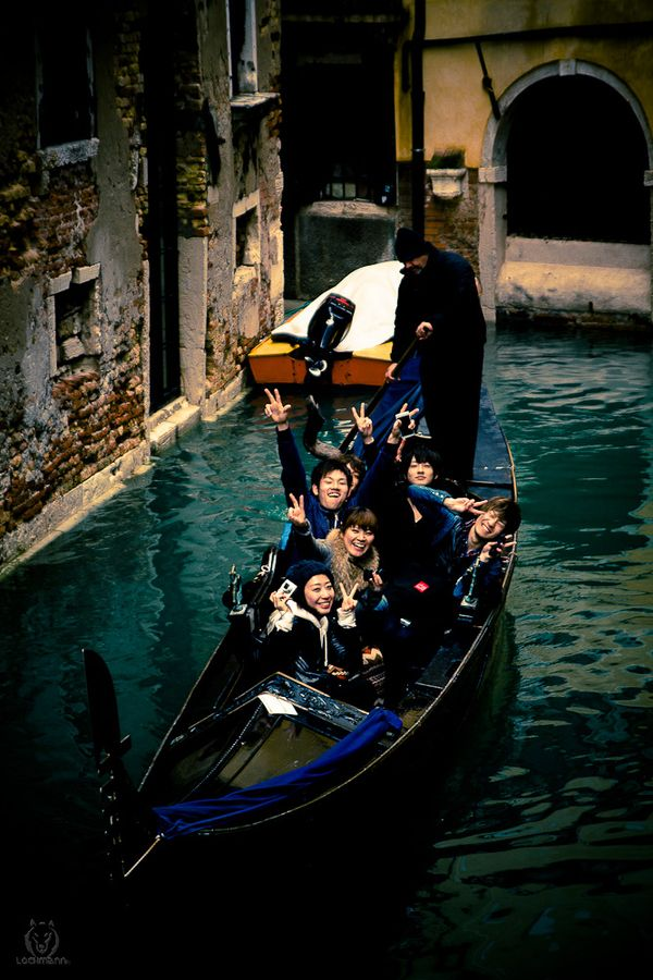 Happy People in Venice, Italy