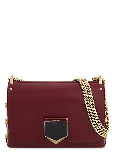 9132f22286c JIMMY CHOO Lockett Petite leather shoulder bag