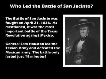 San Jacinto PowerPoint San jacinto, Apple lessons, Texas