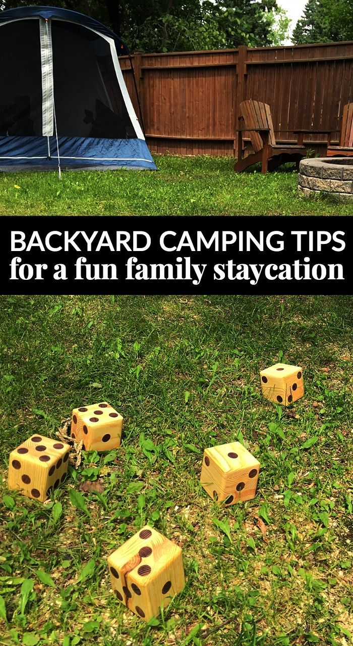 backyard camping tips for a fun family staycation garden