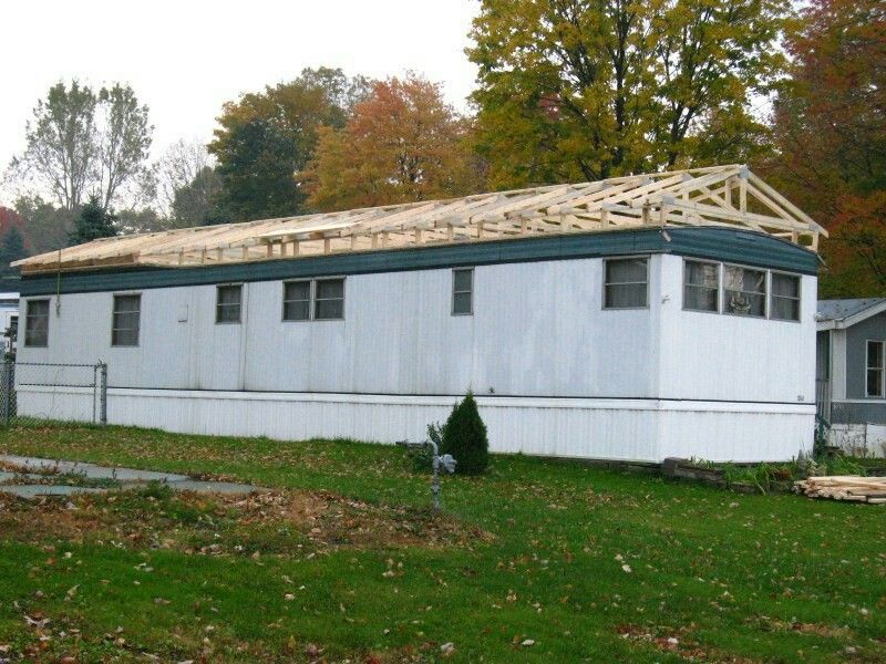 Reroof Mobile home roof, Mobile home exteriors, Single