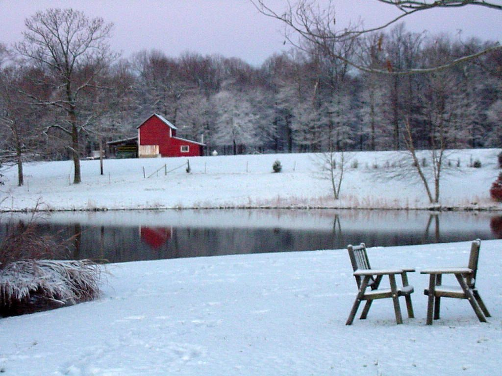 Winter time on a Tennessee farm how beautiful!