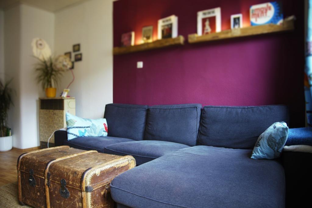 wohnzimmer in satten farben in stuttgart west. wohnung in, Wohnzimmer