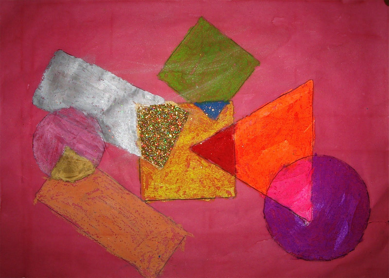 Abstract Art Geometric Shapes Drawing