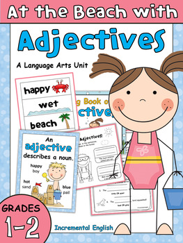 Adjectives Worksheets And Activities At The Beach With Adjectives Part Of Speech Grammar Adjective Worksheet Adjectives