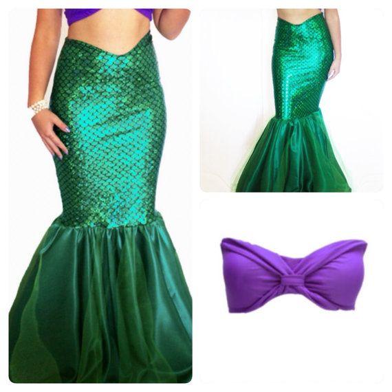 MORENA- adult mermaid costume, mermaid tail and top set, mermaid ...
