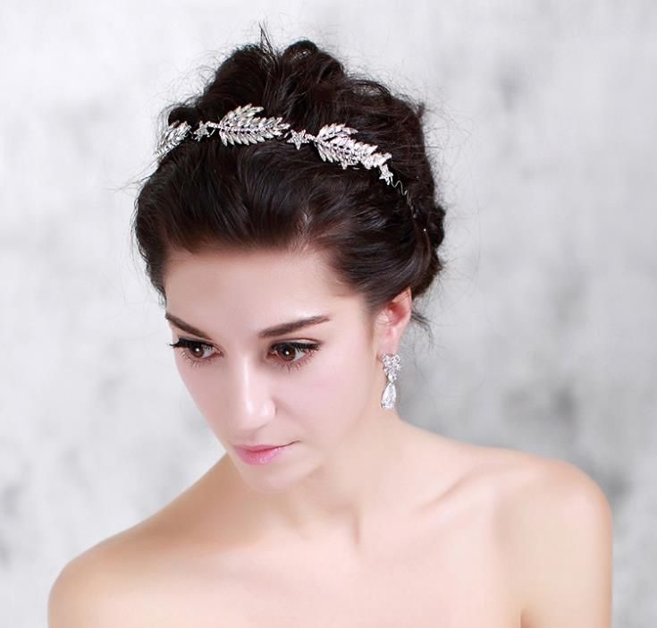 Rhinestone Hair Band Bridal Hairbands Crystal Headband Wedding Accessories Head Jewelry Ornaments Tiara Noiva