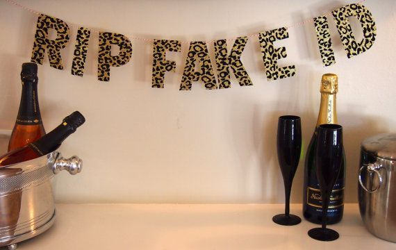 21st Birthday RIP Fake ID TM by SoireeSophisticate on Etsy #21stbirthdaydecorations
