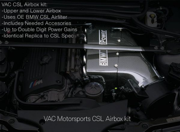 Vac Csl Style Carbon Fiber Airbox S54 Applications Vac
