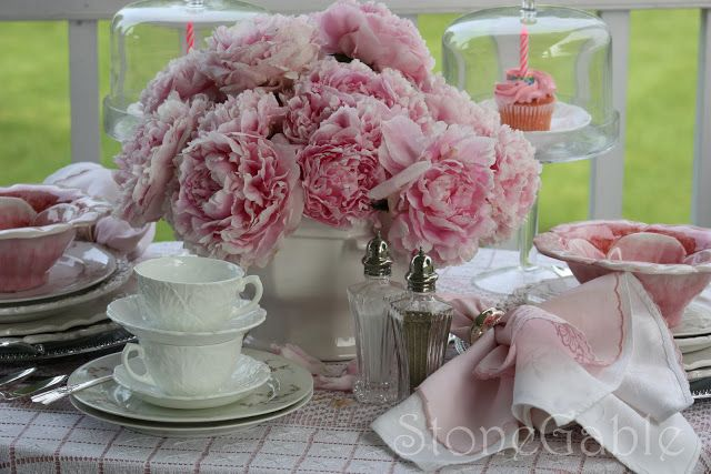 StoneGable: Pink Peony Tablescape