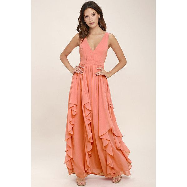 Simply Sweet Coral Pink Maxi Dress 28 Liked On Polyvore