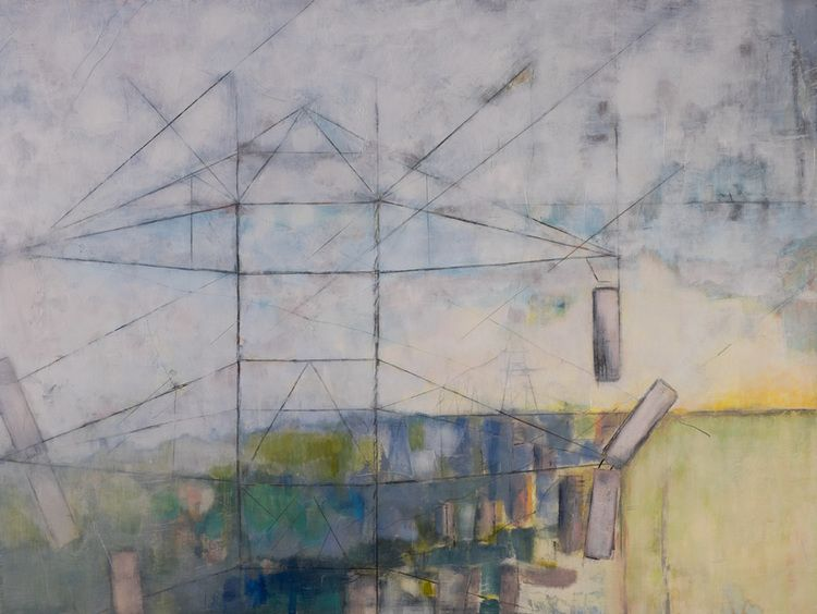Communication Strategy Oil on Wood panel 30 x 40 Catherine - communication strategy