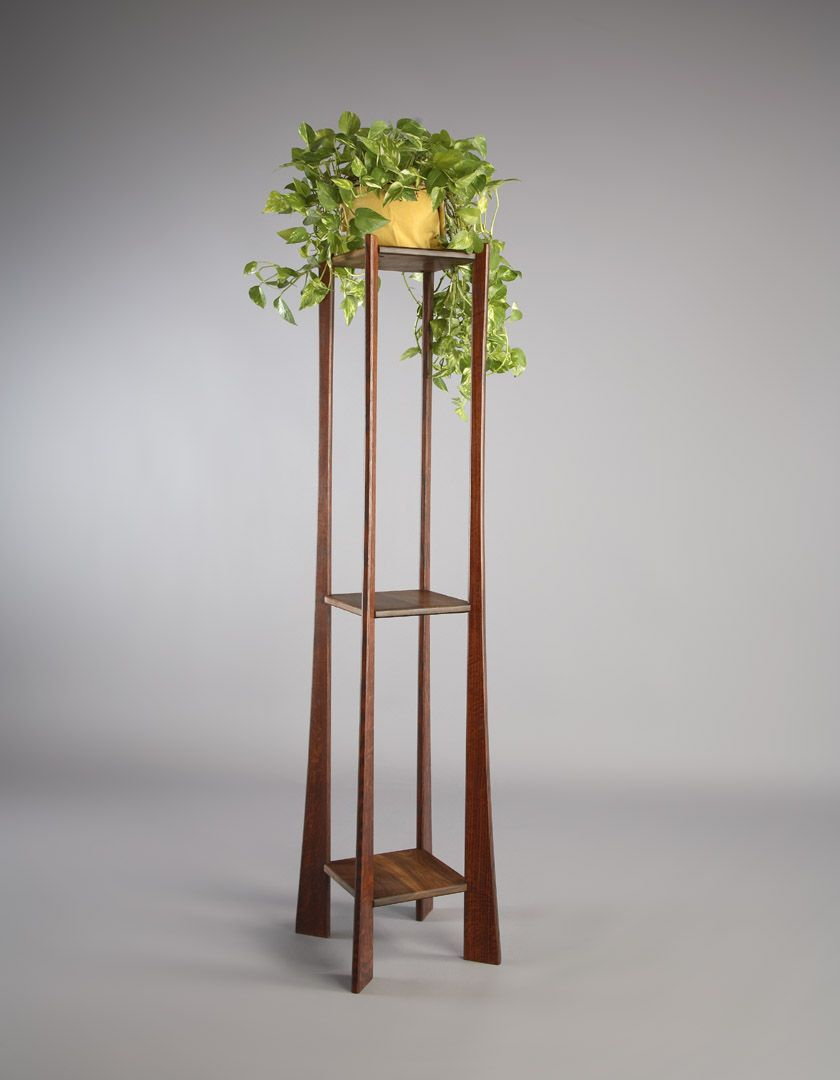 Sometimes You Have To Go Delicate Great Example Of Dimensions Affecting Feel Narrow With Height With Images Tall Plant Stands Wood Plant Stand Plant Stand Indoor