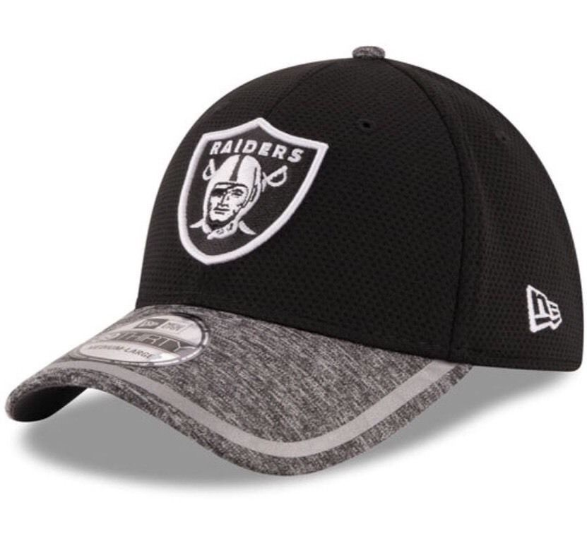 8e6219eb8 Oakland Raiders New Era 39Thirty NFL Training Shadow Tech M L Flexfit Cap  Hat