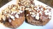 MIKE & MATT'S HAZELNUT CHOCO DONUTS: Great recipe when you need a delicious dessert in a jiffy  #chocolate #donuts