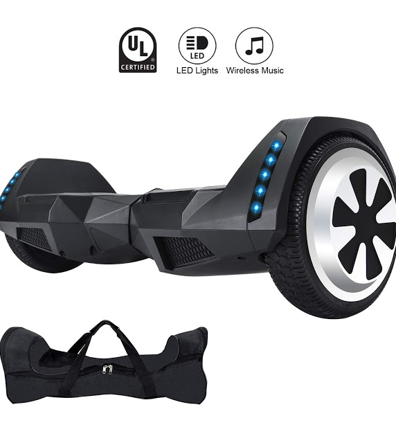 XPRIT 8 inch Wheels/Hoverboard Electric Auto Self Balancing Scooter with Wireless Music Speakers and LED Lights UL2272 Certified/ Electric Scooter for Kids and Adult/