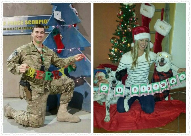 The pictures for our deployment christmas card!!!