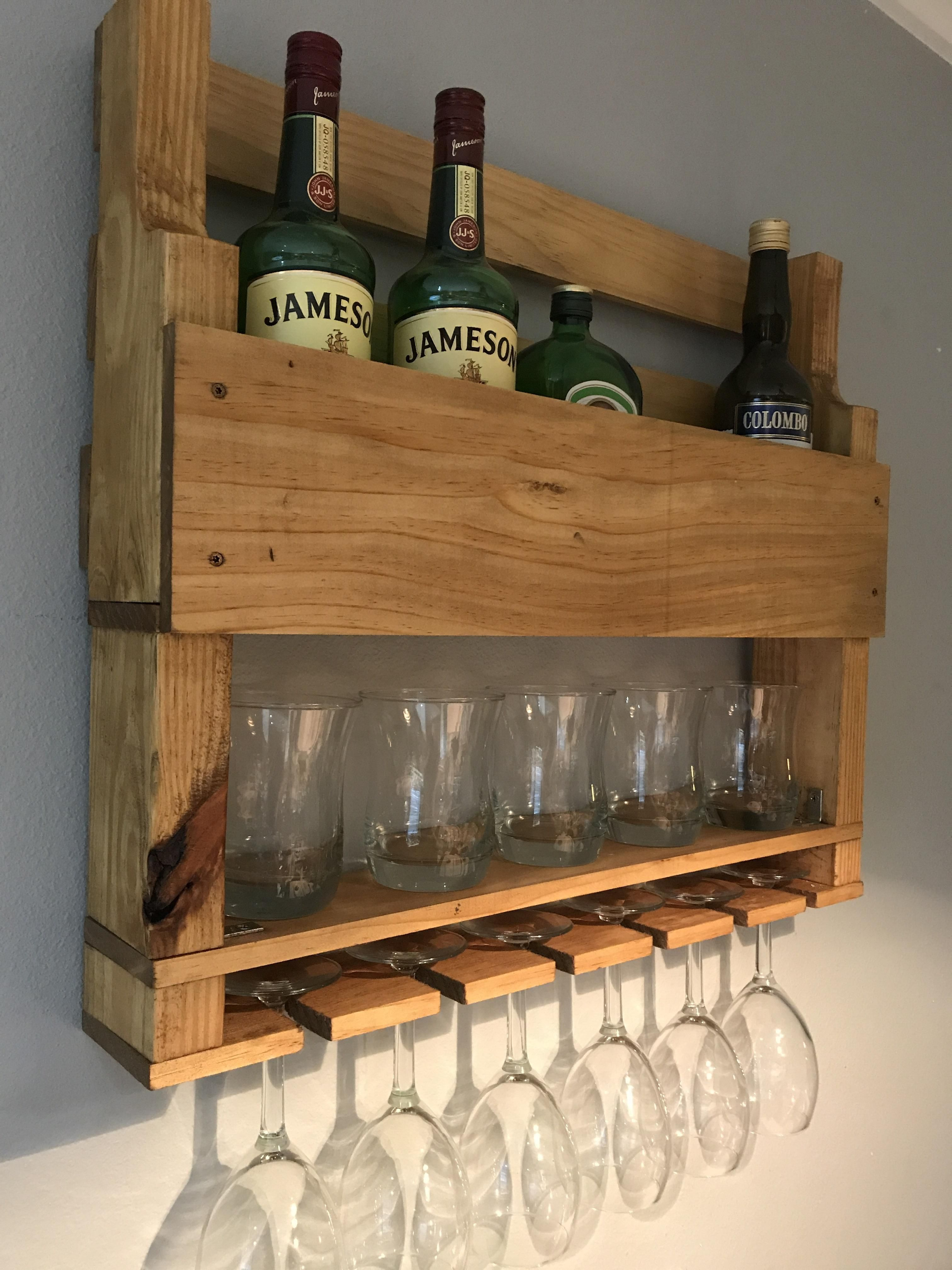 My First Project Was Also A Wine Whiskey Rack Http Ift Tt