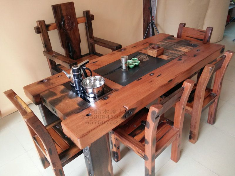 The Old Ship Wood Tea Table Sunken Wood Tea Table Kung Fu Tea Table Balcony  Tea