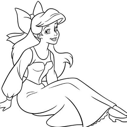 Coloriage ariel humaine mes cr ations - Coloriages ariel ...