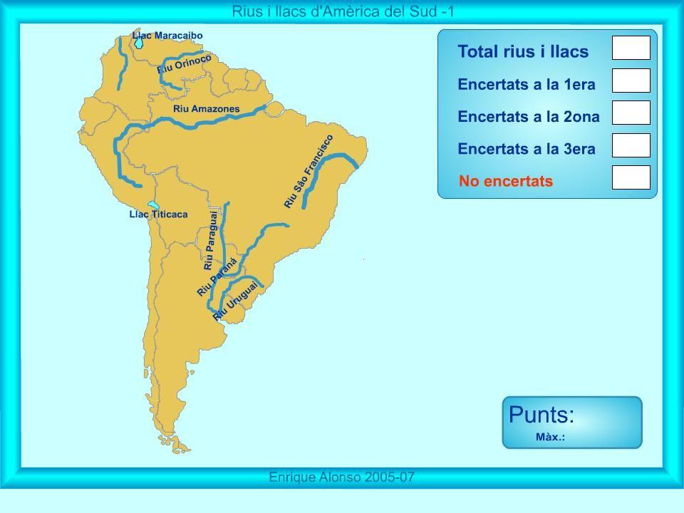 MAPES INRERACTIUS Rius i llacs dAmrica del Sud On s  Escola