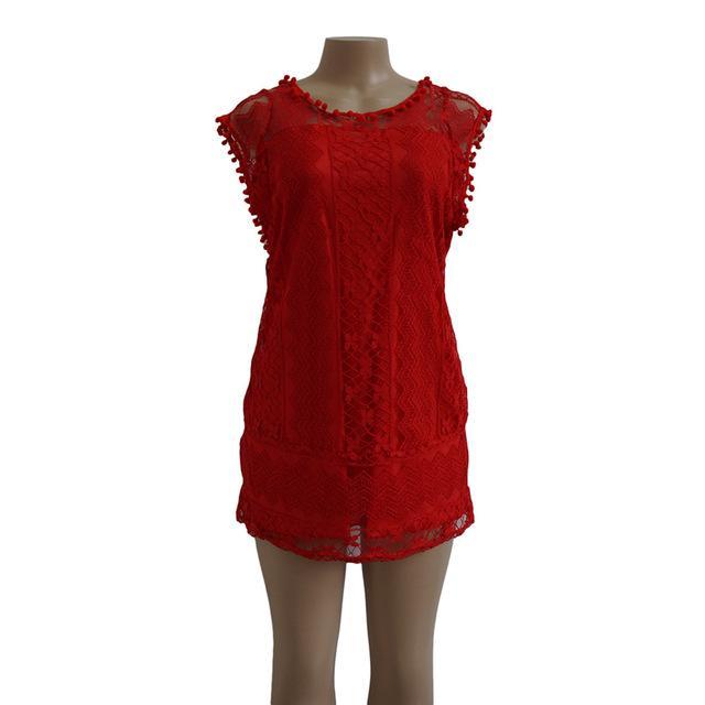ab17369d2d6a Gender: Women Pattern Type: Solid Dresses Length: Above Knee, Mini  Neckline: O-Neck Decoration: Lace Model Number: UD8908 Sleeve Style:  Regular Brand Name: ...