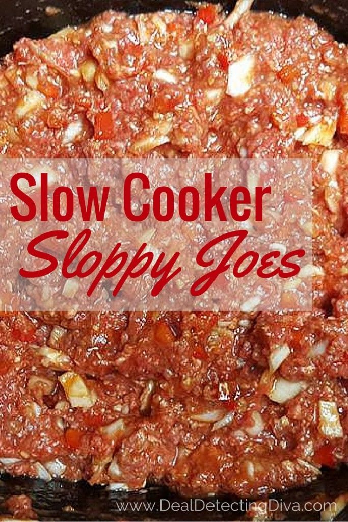 Slow Cooker Sloppy Joes Using Raw Ground Beef Slow Cooker Sloppy Joes Sloppy Joe Recipe Crock Pot Slow Cooked Meals