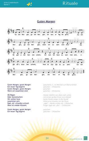 Guten Morgen Morgenkreislied Aus Kita Liederbuch 1