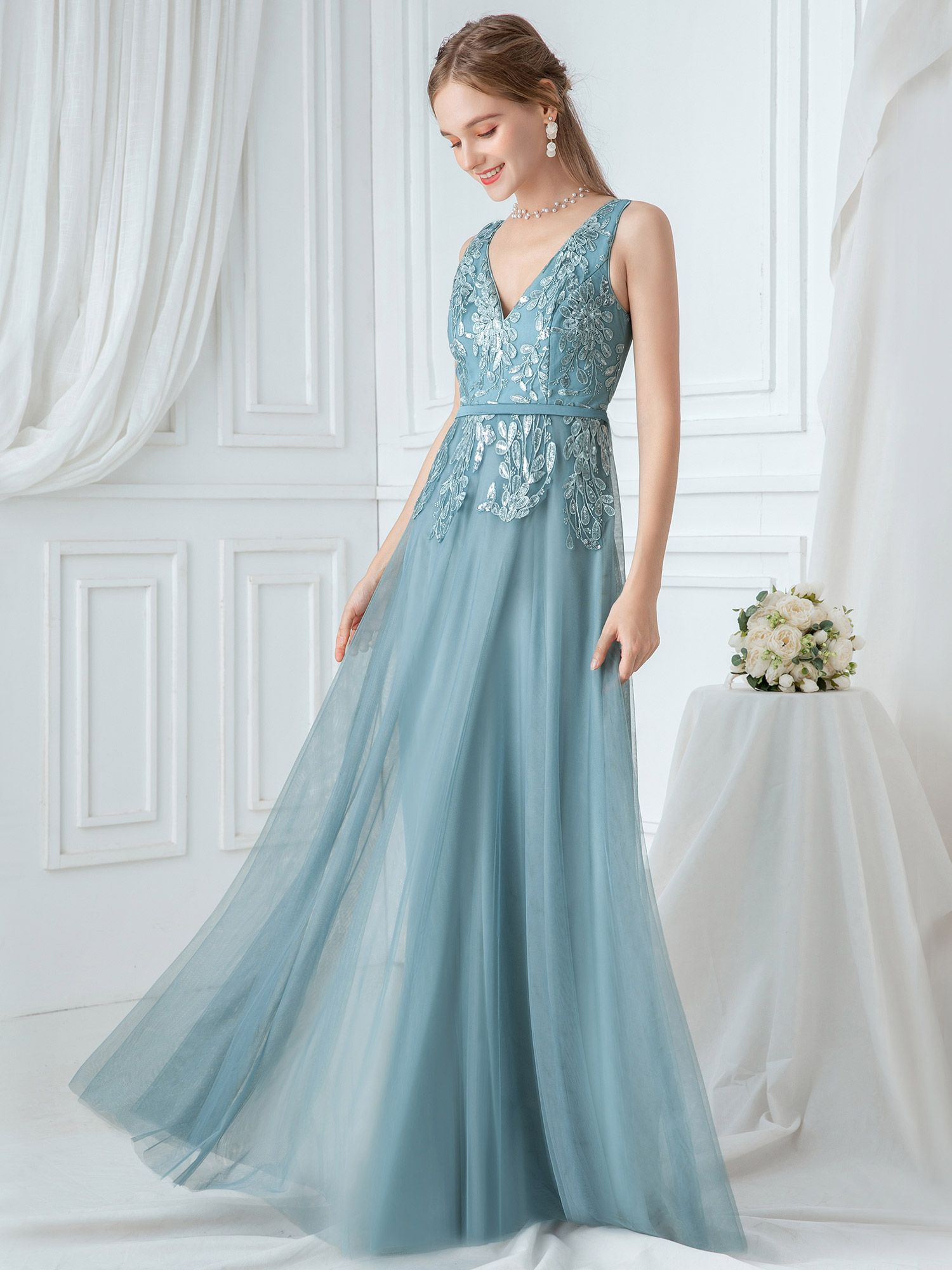 Ever Pretty Ever Pretty Womens Embroidery A Line Bridal Gowns Wedding Dresses For Bride 00845 Us4 Walmart Com A Line Bridal Gowns Tulle Bridesmaid Dress Blue Bridesmaid Dresses [ 2000 x 1500 Pixel ]
