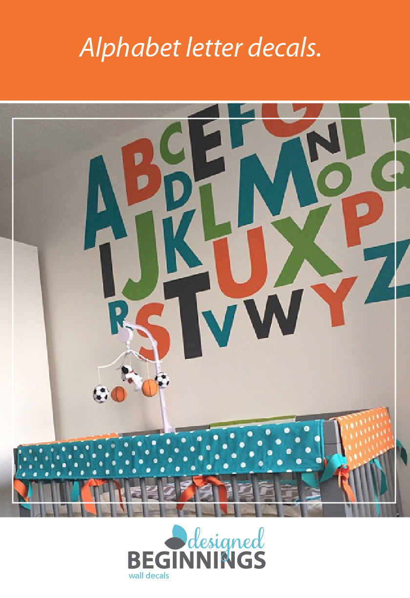 Large Letter Stickers Alphabet Letters Wall For Nursery Decals Playroom Vinyl Db148