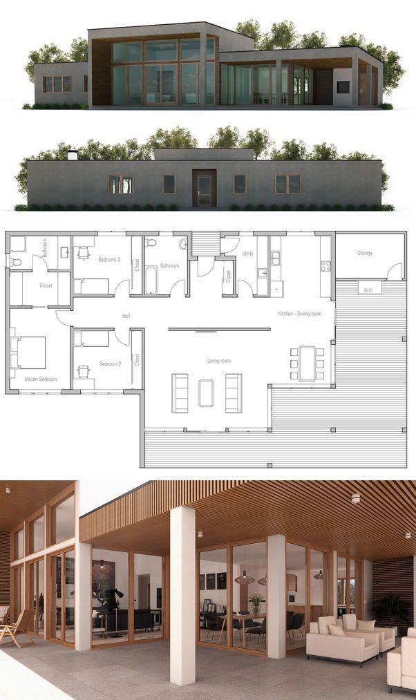 Plan de Maison plans Pinterest Architecture, Eat sleep live