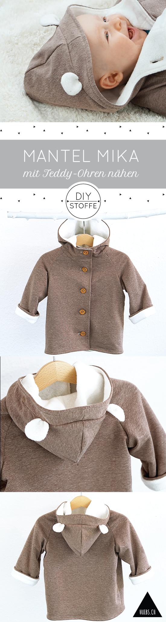 Mantel Mika – Anleitung & Schnittmuster #crochetdinosaurpatterns