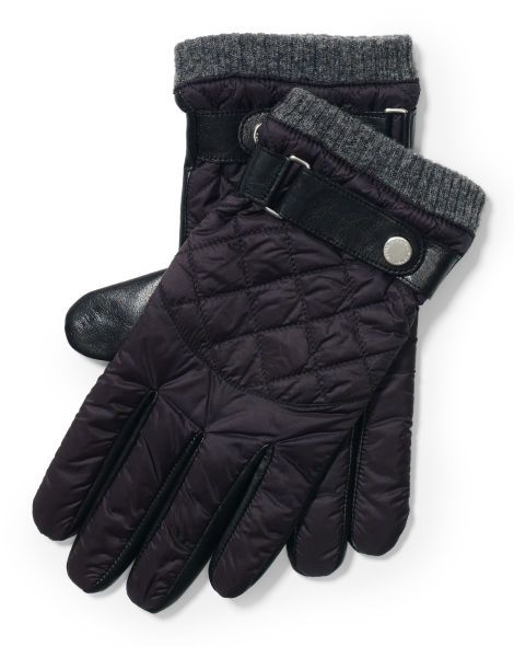 Diamond-Quilted Leather Gloves - Polo Ralph Lauren Gloves ... : leather quilted gloves - Adamdwight.com