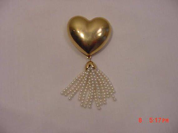 Vintage Estee Lauder Beautiful Solid Perfume Heart  17  1285